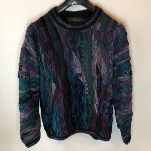 Tundra Textured 3D Coogi Sweater Cosby Biggie